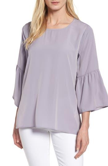 Women's Bobeau Bell Sleeve Blouse, Size Small - Grey