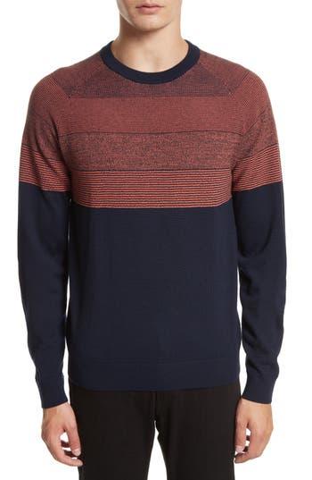 Men's Ps Paul Smith Degrade Stripe Colorblock Wool Sweater, Size Small - Blue