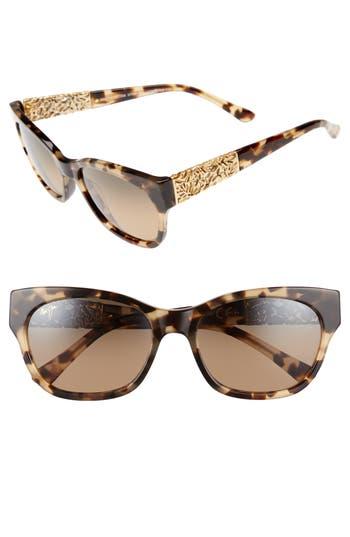 Maui Jim Monstera Leaf 57Mm Polarized Sunglasses - Honey Havana