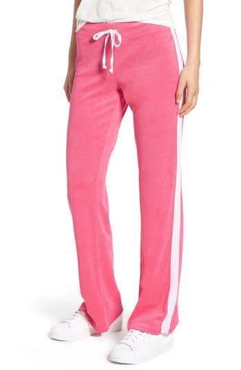 Women's Juicy Couture Venice Beach Del Ray Microterry Pants, Size X-Small - Pink