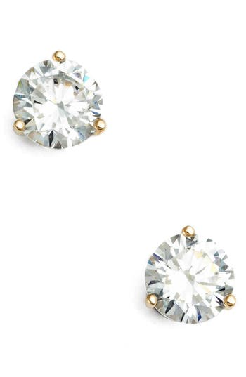 Women's Nordstrom Precious Metal Plated 2Ct Tw Cubic Zirconia Earrings