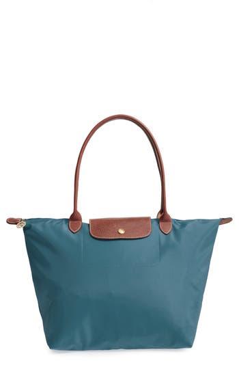 Longchamp 'Large Le Pliage' Tote - Blue