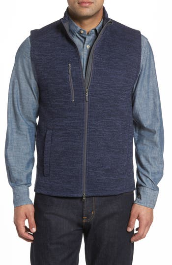 Men's Johnnie-O Tahoe Fleece Vest, Size Medium - Blue
