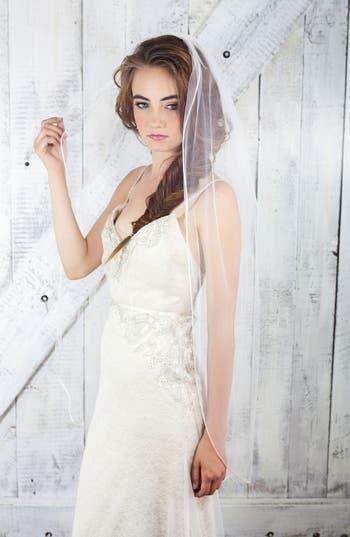 Vintage Inspired Wedding Accessories Veil Trends Cancun Sheer Mesh Bridal Veil $200.00 AT vintagedancer.com