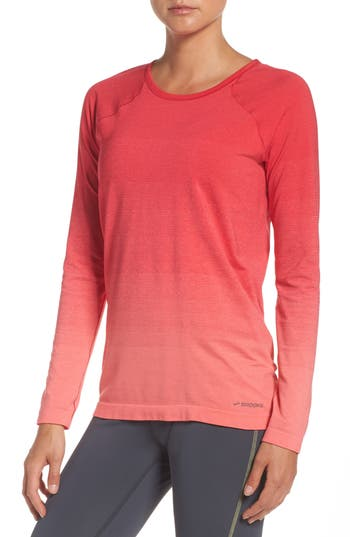 Women's Brooks Drilayer Top, Size Small - Pink
