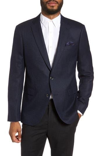 Men's Sand Trim Fit Wool Blazer