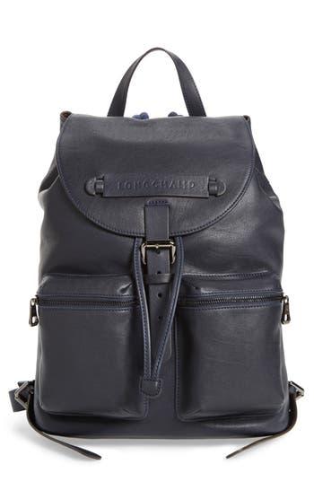 Longchamp 3D Leather Backpack - Blue