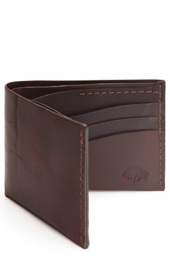 Ezra Arthur No. 8 Leather Wallet - Burgundy