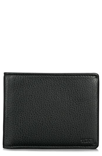 Tumi Global Leather Rfid Wallet - Black