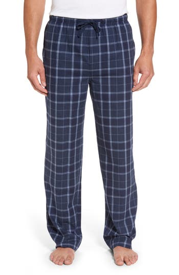 Men's Majestic International Guiness Plaid Lounge Pants, Size Medium - Blue
