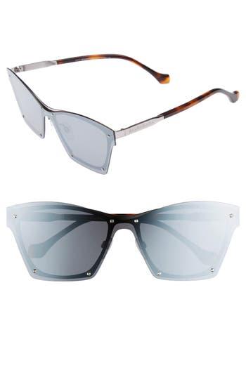 Balenciaga 55Mm Frameless Sunglasses - Shiny Ruthenium/ Smke Silv Mir