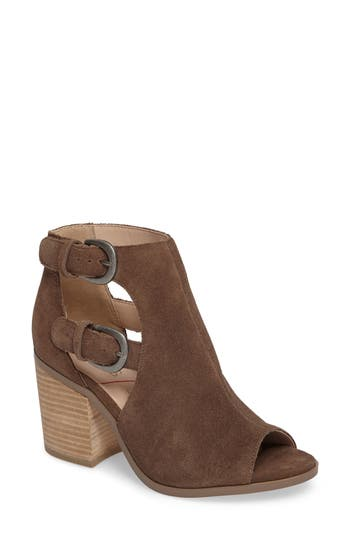 Sole Society Hyperion Peep Toe Bootie- Brown