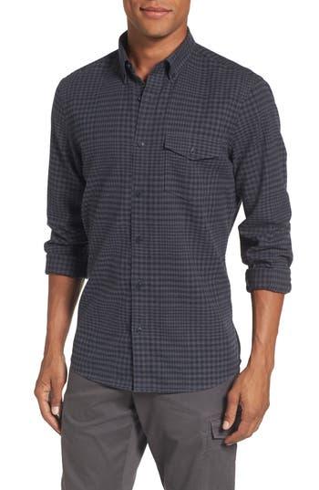 Men's Nordstrom Men's Shop Slim Fit Washed Glen Plaid Sport Shirt