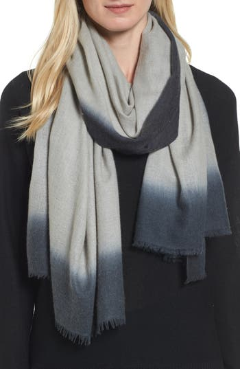 Women's Eileen Fisher Ombré Cashmere Scarf