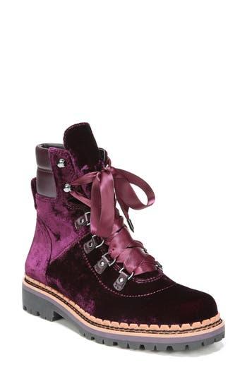 Sam Edelman Browan Lace-Up Boot- Burgundy