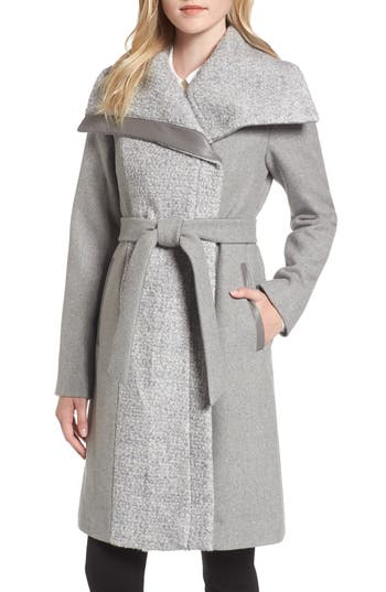 Women's Vince Camuto Textured Double Breasted Coat