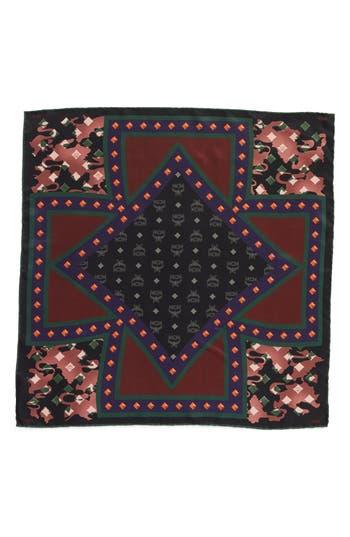 Women's Mcm Tarot Camo Print Silk Square Scarf, Size One Size - Burgundy