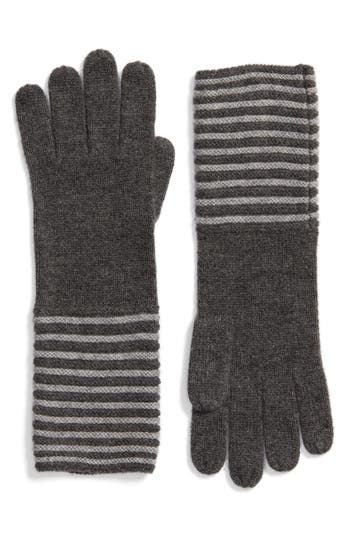 Women's Michael Michael Kors Double Links Wool & Cashmere Gloves, Size One Size - Grey