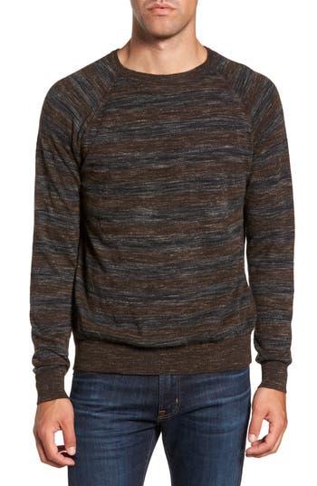 Men's Billy Reid Reverse Stripe Sweater, Size Small - Blue