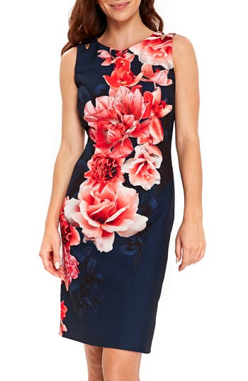 Women's Wallis Sahara Floral Scuba Sheath Dress