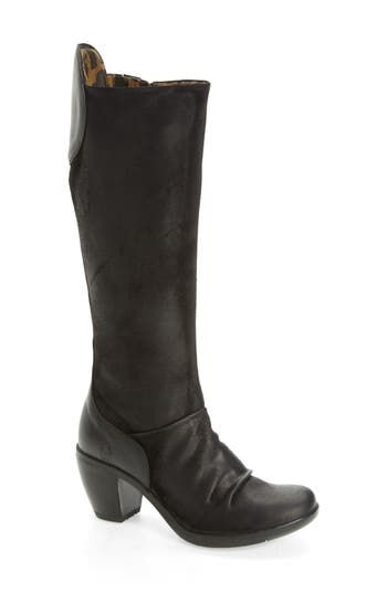Fly London Hean Knee High Boot - Black