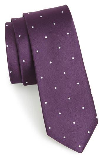 Men's The Tie Bar Woven Silk Tie, Size Regular - Purple