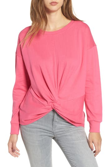 Women's Socialite Twist Front Pullover, Size X-Small - Pink