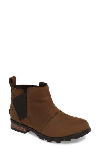Sorel Emelie Waterproof Chelsea Boot- Brown