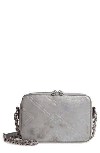 Chelsea28 Bella Stitched Faux Leather Crossbody Bag - Metallic