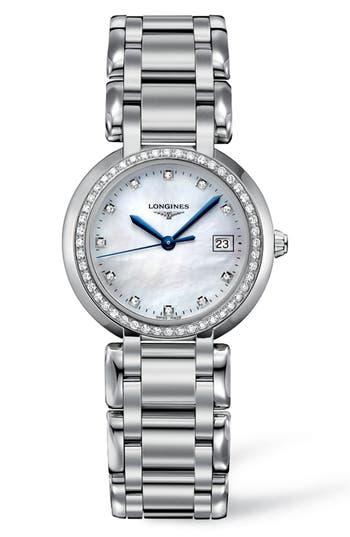 Women's Longines Primaluna Diamond Bracelet Watch, 30Mm