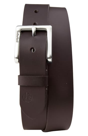 Timberland Leather Belt, Dark Brown
