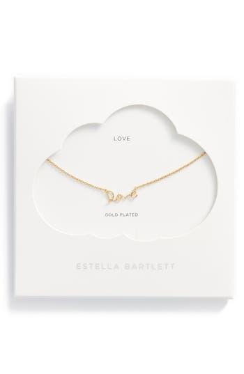 Women's Estella Bartlett Love Pendant Necklace