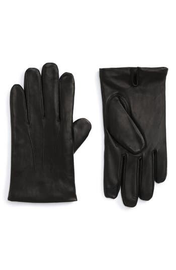 Nordstrom Shop Leather Gloves, Black