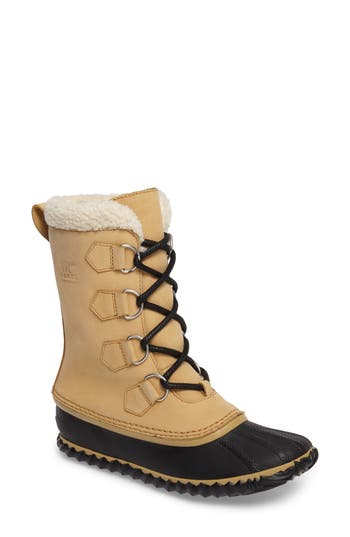 Sorel Caribou Slim Waterproof Boot, Beige