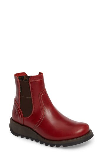 Fly London Scon Waterproof Gore-Tex Chelsea Boot, Red
