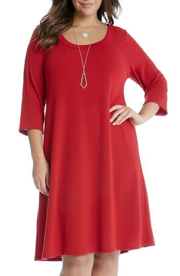Plus Size Women's Karen Kane A-Line Dress, Size 0X - Red