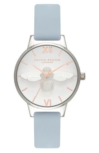 Women's Olivia Burton Animal Motif Leather Strap Watch, 30Mm