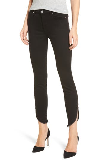 7 For All Mankind B(Air) Ankle Skinny Jeans, Black
