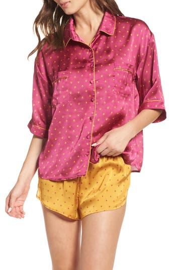 Women's Chelsea28 Short Satin Pajamas, Size X-Small - Purple