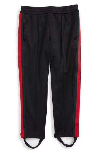 Girl's Gucci Stripe Jersey Stirrup Pants