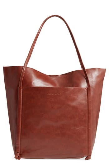 Sole Society Harley Faux Leather Tote - Brown