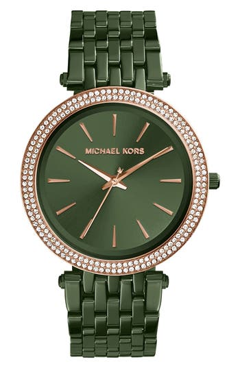 Women's Michael Kors Darci Crystal Bezel Braclet Watch, 39Mm