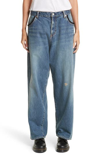 Women's Undercover Embroidered Bee Jeans, Size 2 - Blue