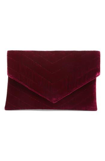 Shiraleah Alexis Velvet Envelope Clutch - Purple