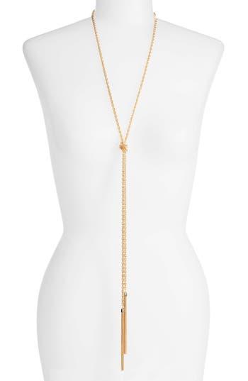 Women's Halogen Fine Chain Tassel Lariat Necklace