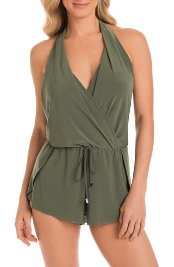 Magicsuit Bianca One-Piece Romper Swimsuit, Green