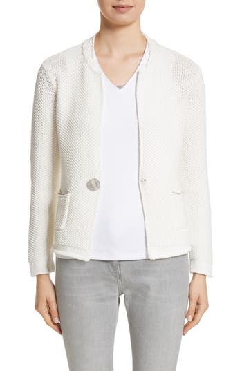 Fabiana Filippi  POPCORN STITCH COTTON BLEND CARDIGAN