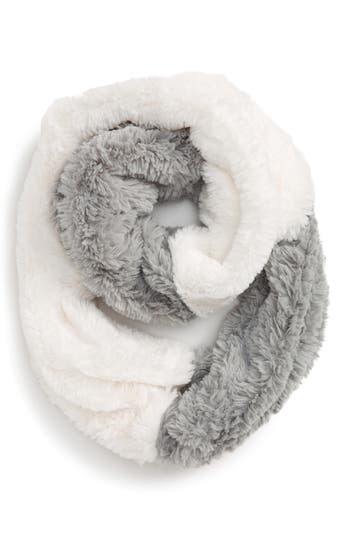 Girl's Tucker + Tate Color Block Faux Fur Infinity Scarf