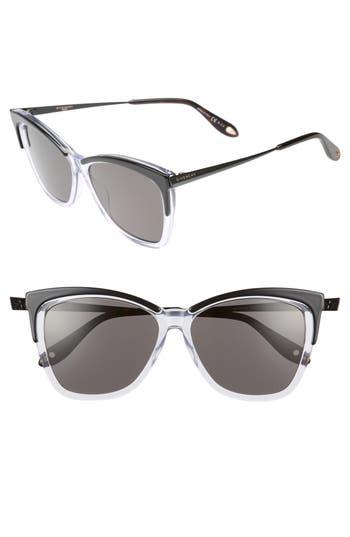 Givenchy 57Mm Cat Eye Sunglasses - Black Crystal