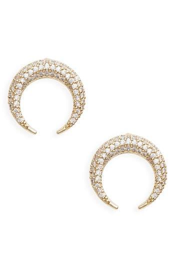 Women's Panacea Crystal Horn Earrings